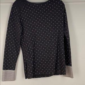 Grey with polka dot long sleeve shirt